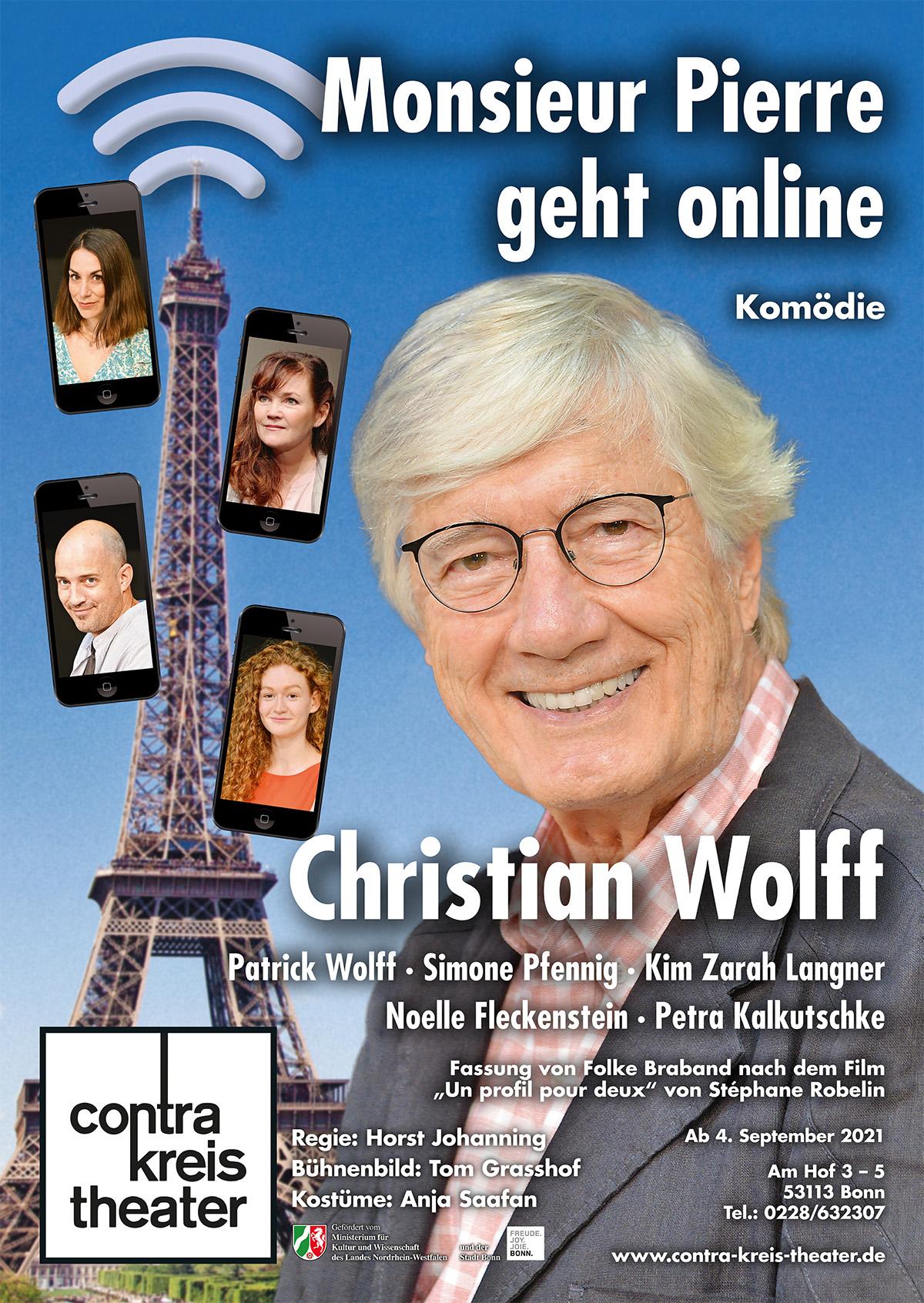 """Monsieur Pierre geht online<span>Fassung von Folke Braband nach dem Film """"Un profil pour deux"""" von Stéphane Robelin</span"""